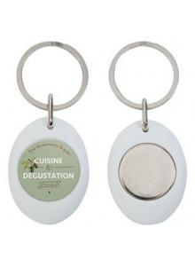 objet publicitaire - promenoch - Porte clé publicitaire avec jeton magnétisé  - Porte-clés Publicitaire