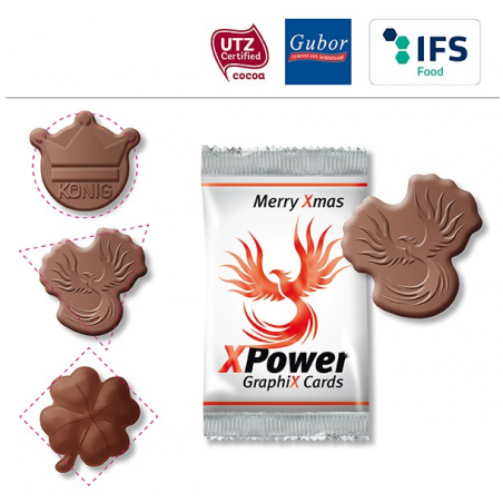 Logo en chocolat personnalisé
