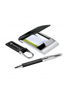 objet publicitaire - promenoch - Coffret cadeau personnalisé stylo/porte-carte/porte-clé  - Cadeaux d'Affaires