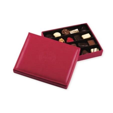 Coffret chocolat personnalisé en cuir