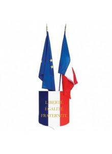 objet publicitaire - promenoch - Écusson porte drapeau personnalisable   - Accueil