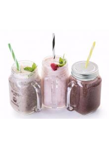 objet publicitaire - promenoch - Mason jar publicitaire en verre avec paille  - Accueil