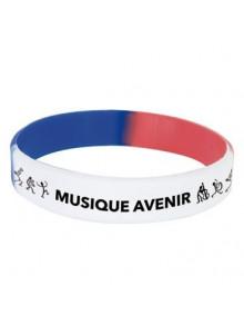 objet publicitaire - promenoch - Bracelet silicone tricolore publicitaire  - Accueil