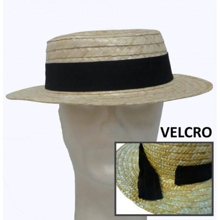 Chapeaux en paille naturelle renforcée publicitaire