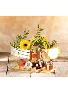 objet publicitaire - promenoch -  Panier Récoltes Bio en Roussillon publicitaire  - Panier Gourmand personnalisé