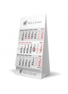 objet publicitaire - promenoch - Calendrier 2019 Chevalet Tryptique Publicitaire  - Fournitures de bureau