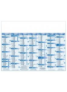 objet publicitaire - promenoch - Calendrier Standard 7 mois Publicitaire   - Calendrier Publicitaire