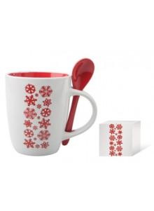 objet publicitaire - promenoch - Mug avec cuillère Publicitaire Noël  - Idées Cadeaux 2018/19