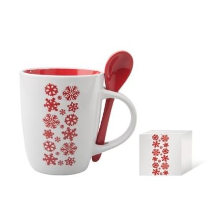 Mug avec cuillère Publicitaire Noël