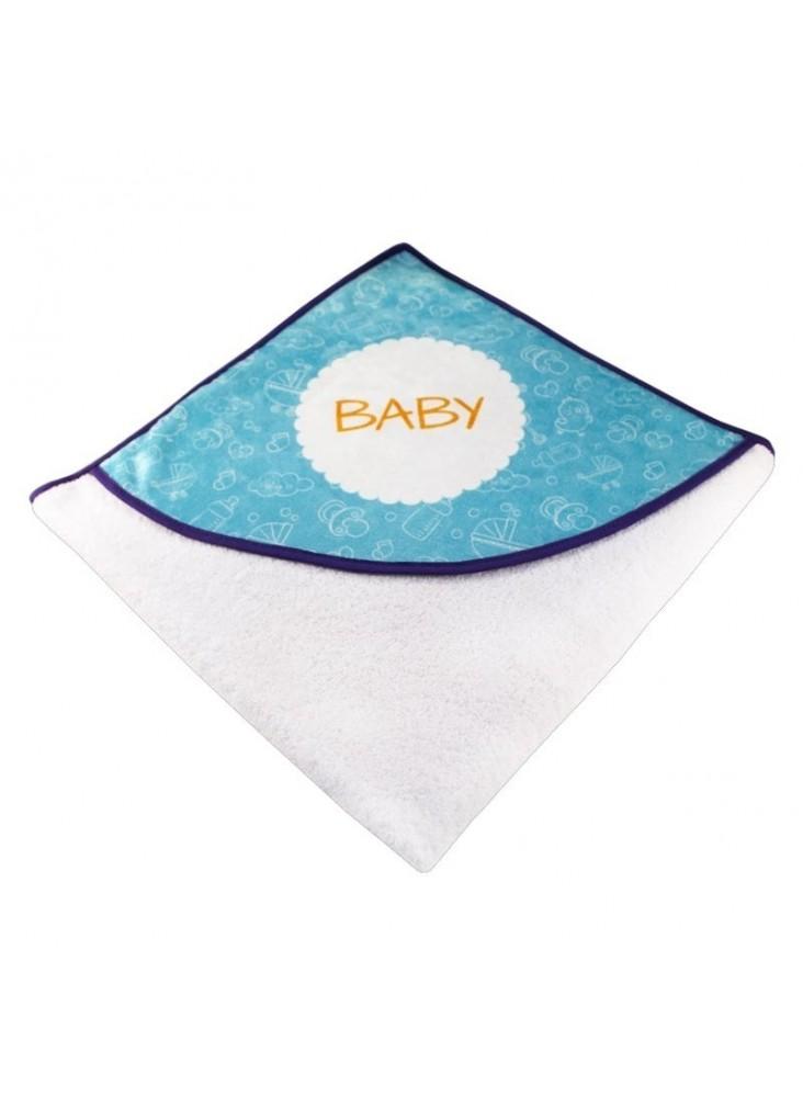 Serviette de bain personnalisable pour bébé   publicitaire