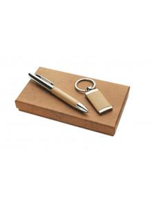 Parure stylo et porte-clés...