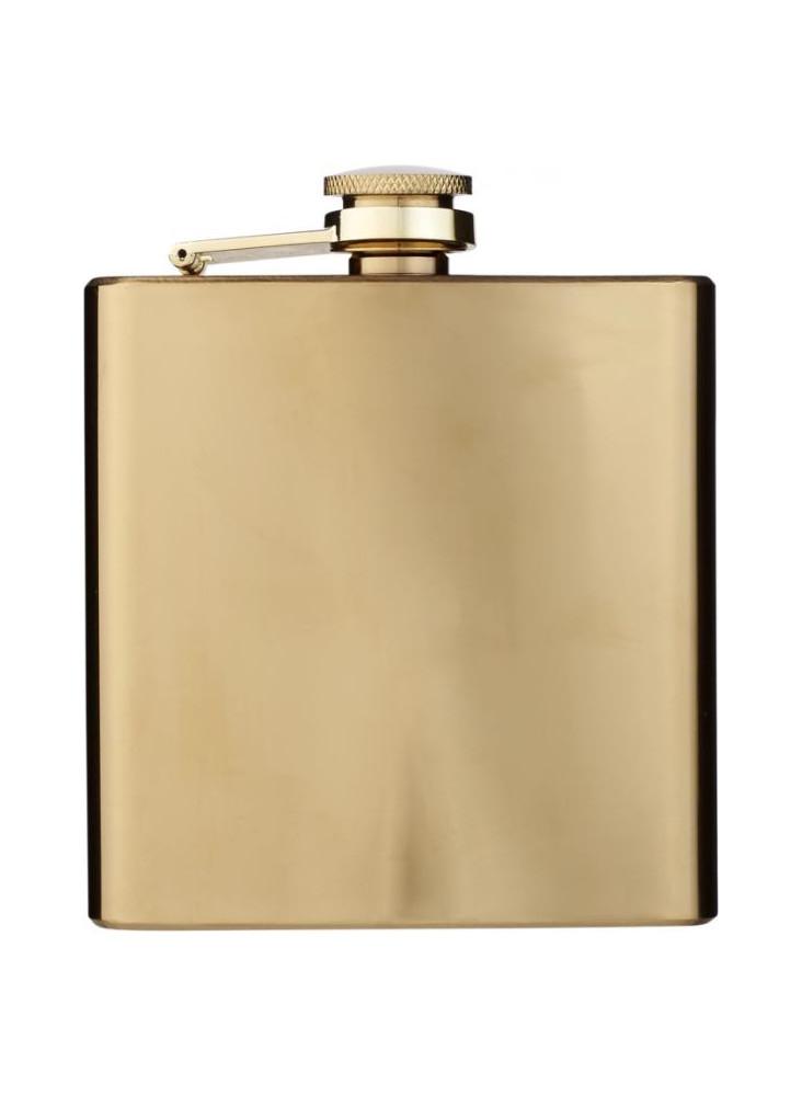 Flasque dorée personnalisable  publicitaire