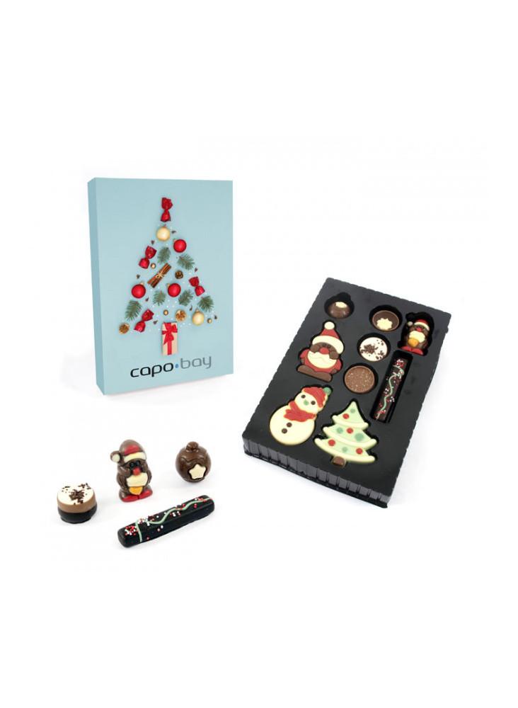 Boîte de chocolats de Noël personnalisable  publicitaire