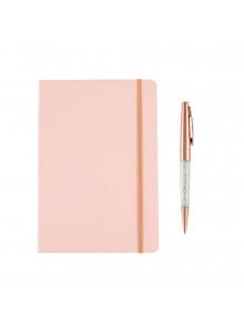 Set de carnet et stylo rose...