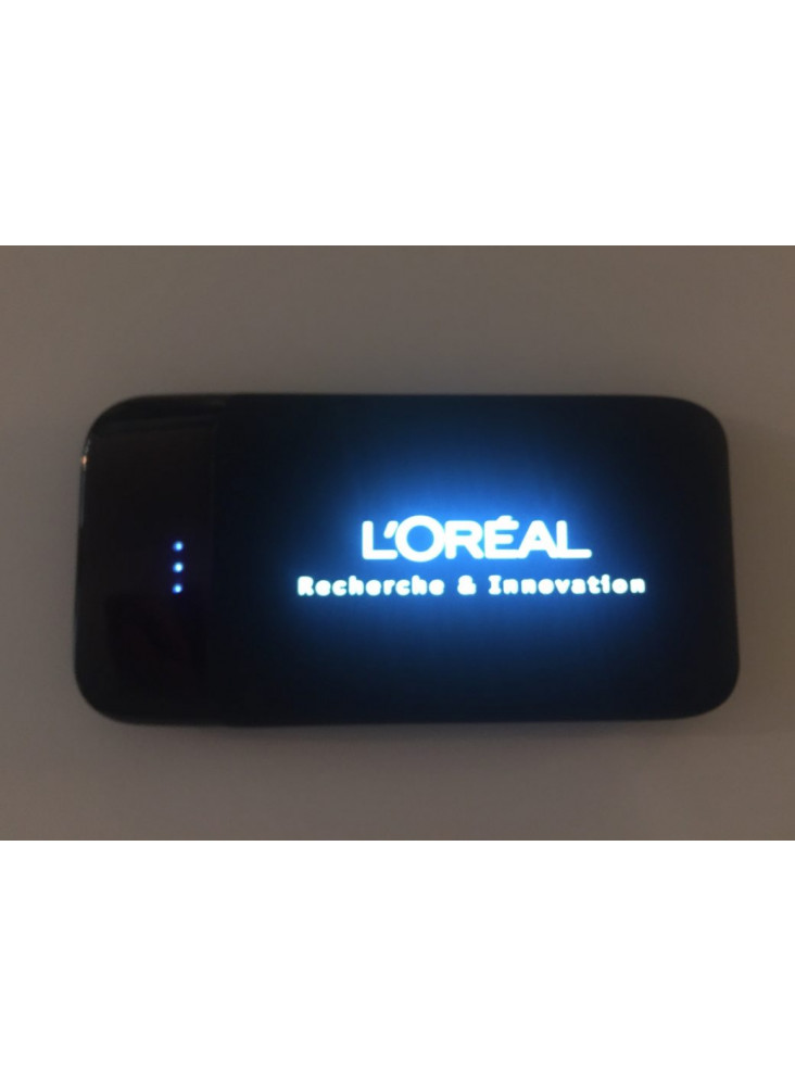 Power bank  led  publicitaire 8000 ou 4000 ou 2000 mAH