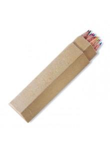 objet publicitaire - promenoch - Crayons de Couleur  - Stylo Bille Publicitaire