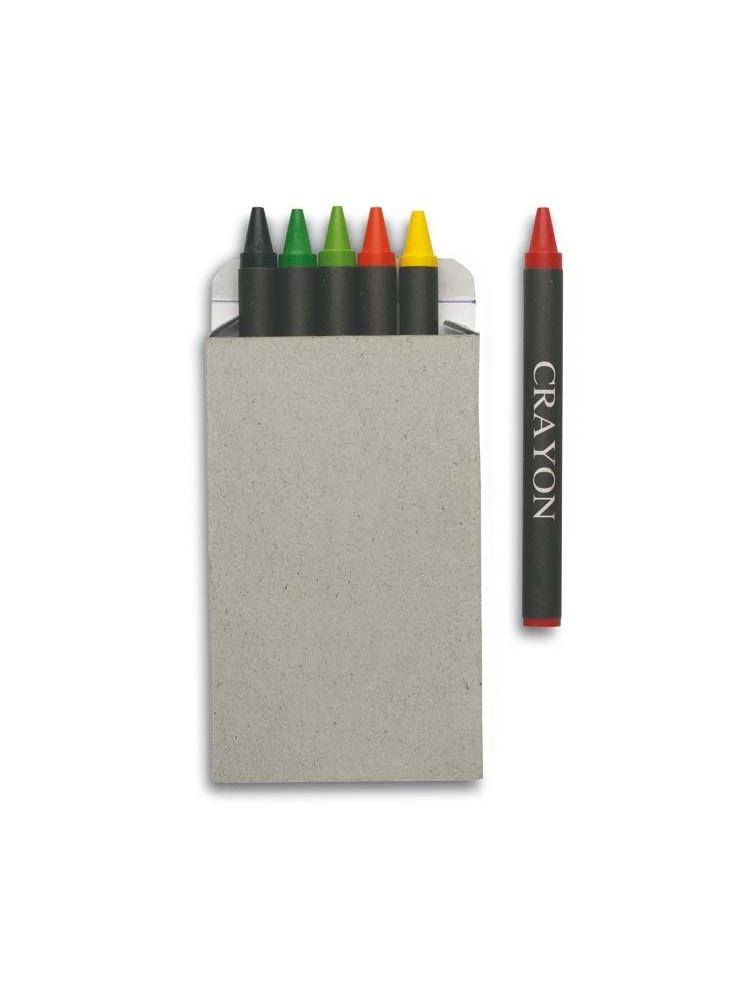 6 Crayons de Couleurs Cire  publicitaire