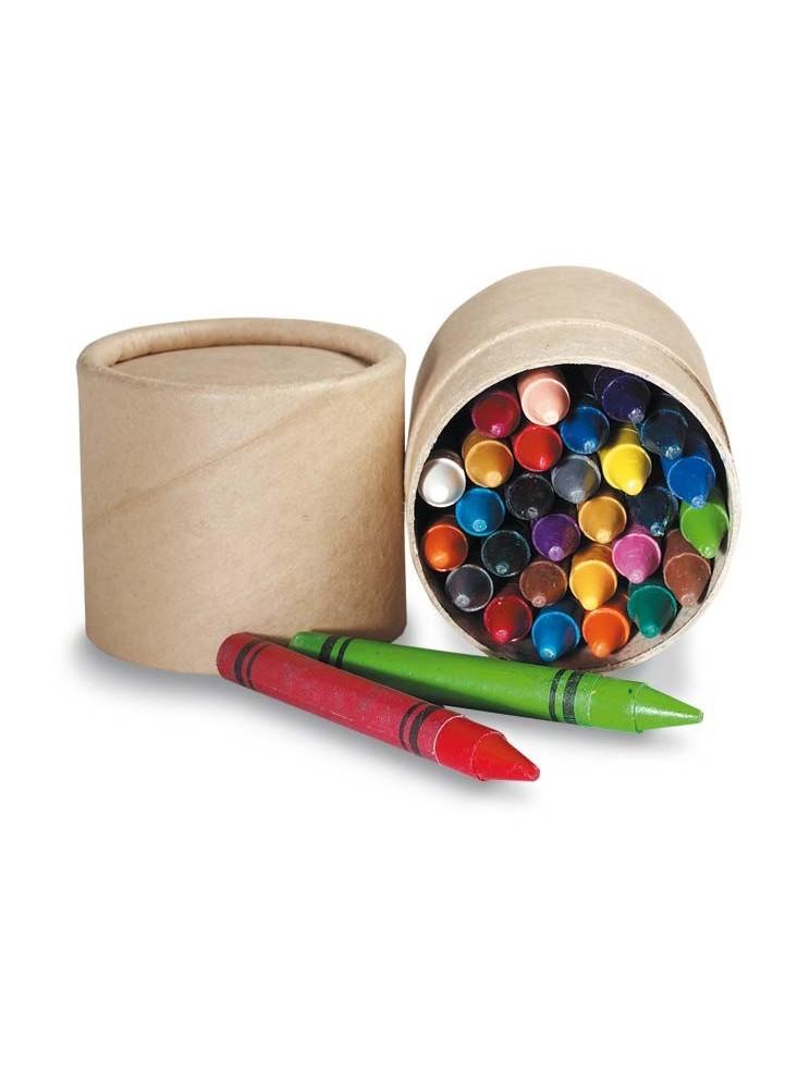 30 Crayons de Couleurs Cire  publicitaire