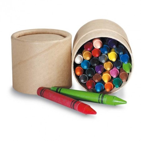30 Crayons de Couleurs Cire