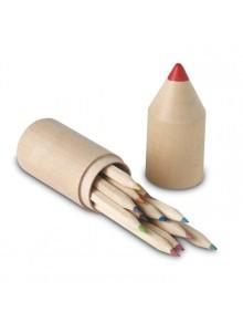 objet publicitaire - promenoch - 12 Crayons de Couleurs  - Stylo Bille Publicitaire