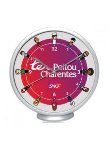 objet publicitaire - promenoch - Pendule Clocky  - Horloge Murale & Pendule