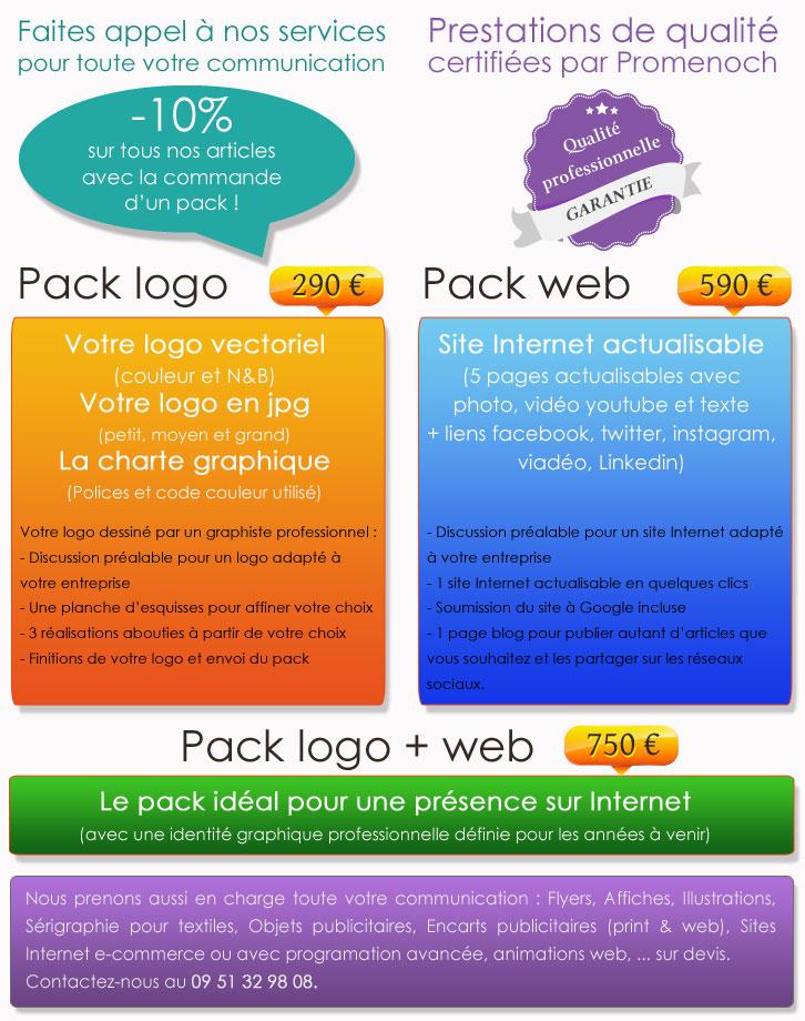 Création de logo et site Internet pour une prise en charge globale de votre communication